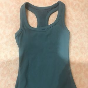 Alo ribbed racer back tank
